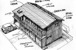 松川邸イラスト